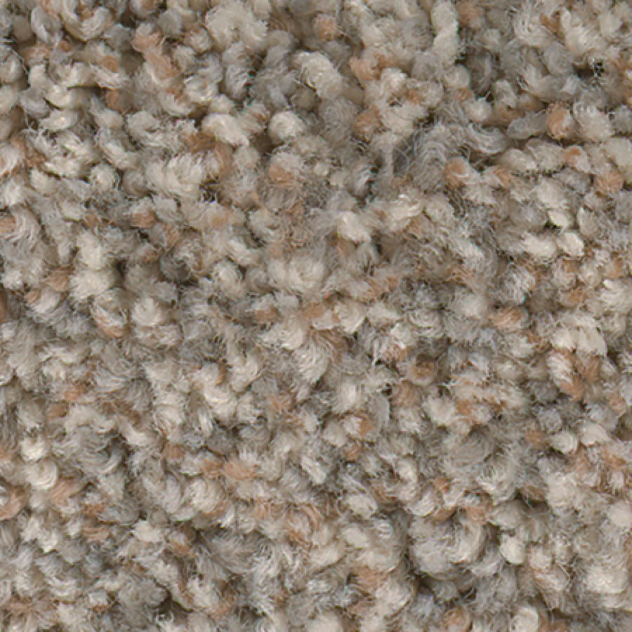 STAINMASTER Active Family with LifeGuard Splash City I 12-ft W x Cut-to-Length Antique Buff Textured Interior Carpet
