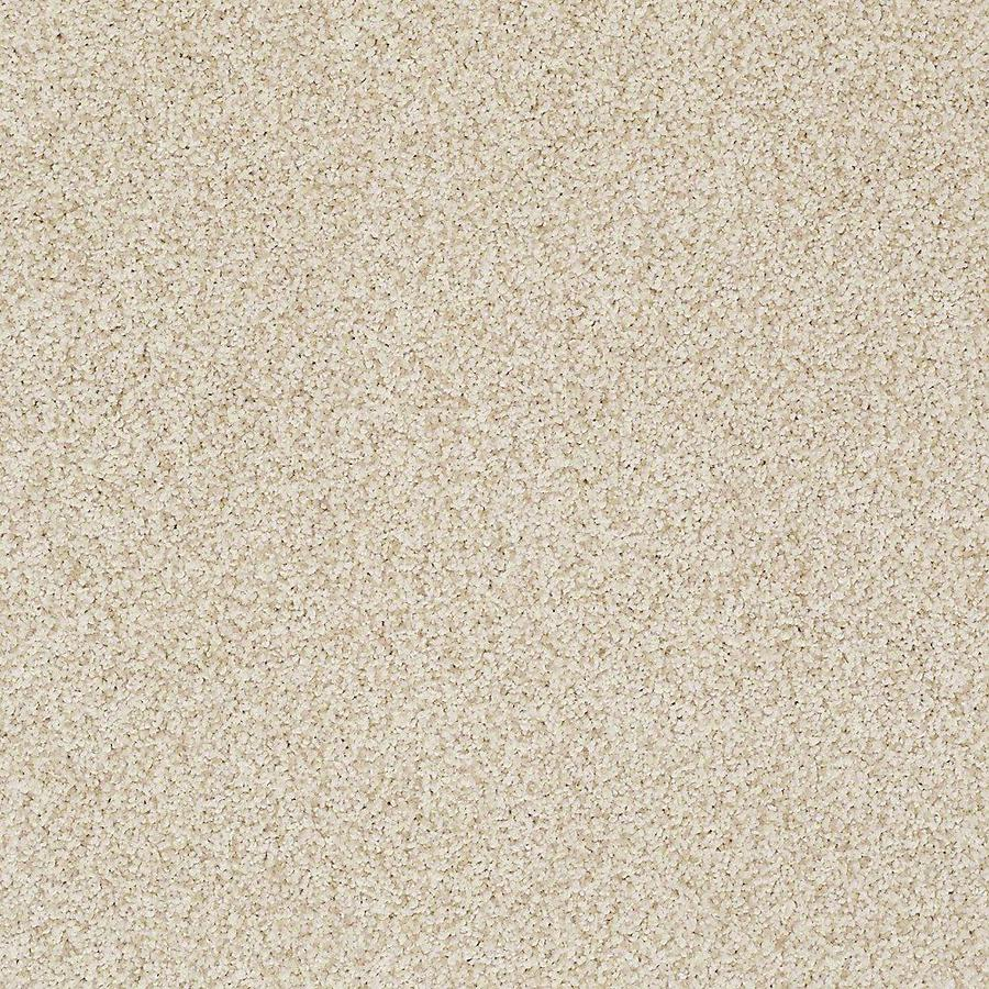 STAINMASTER TruSoft Advanced Beauty II 12-ft W x Cut-to-Length Candle Light Textured Interior Carpet