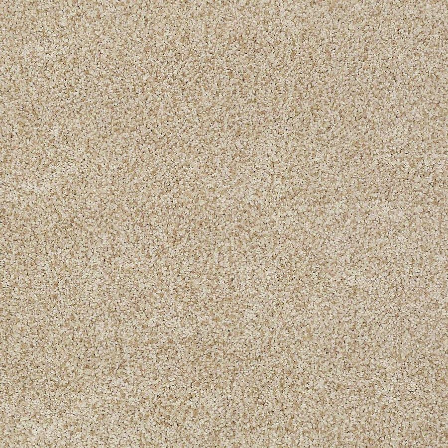 STAINMASTER TruSoft Advanced Beauty II 12-ft W x Cut-to-Length Parchment Textured Interior Carpet