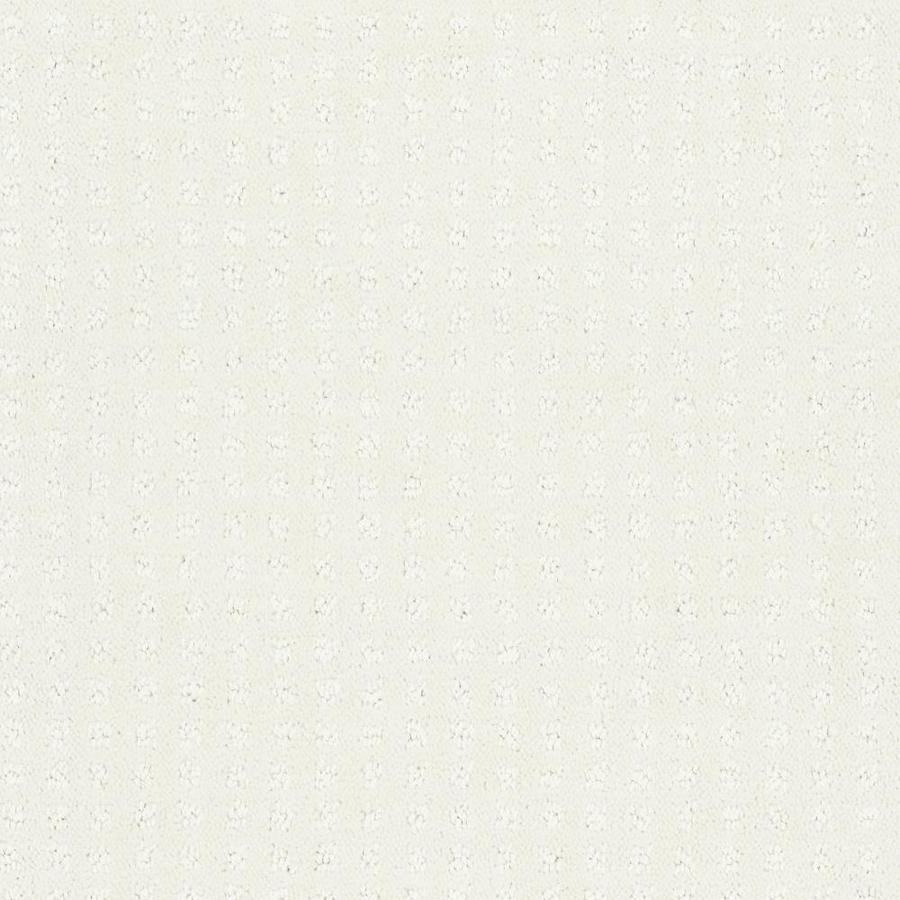 Shaw Cornerstone Honorable Pure Snow 12-ft W x Cut-to-Length Pure Snow Pattern Interior Carpet