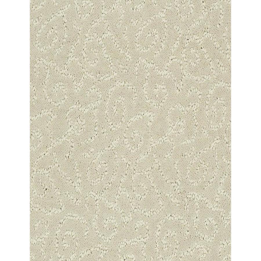 Shaw Cornerstone Trustworthy Bonny Beige 12-ft W x Cut-to-Length Bonny Beige Pattern Interior Carpet