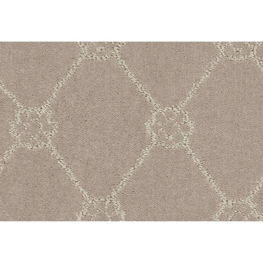Shaw Cornerstone Genuine Soft Taupe 12-ft W x Cut-to-Length Soft Taupe Pattern Interior Carpet