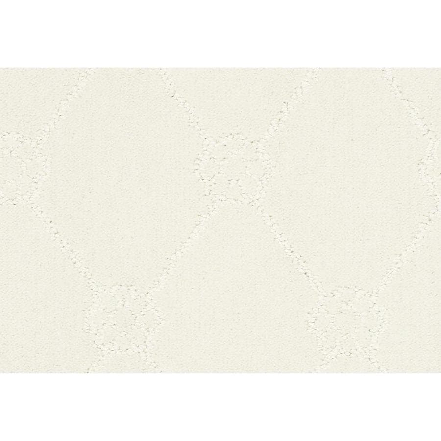 Shaw Cornerstone Genuine Pure Snow 12-ft W x Cut-to-Length Pure Snow Pattern Interior Carpet