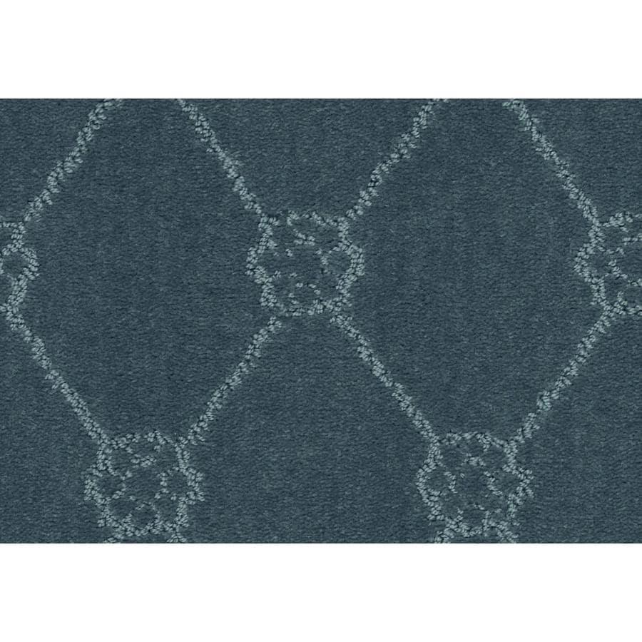 STAINMASTER Cornerstone Genuine Heron Blue 12-ft W x Cut-to-Length Heron Blue Pattern Interior Carpet