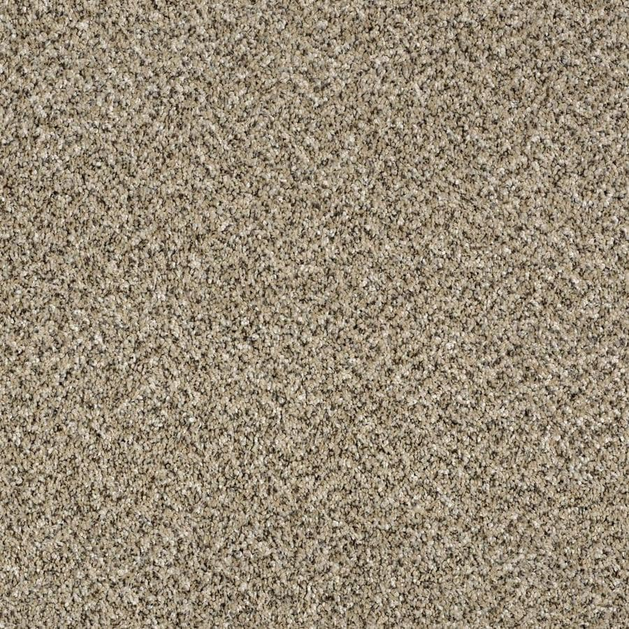 Shaw Wide Width Statuette I  Sea Shell 12-ft W x Cut-to-Length Sea Shell Textured Interior Carpet