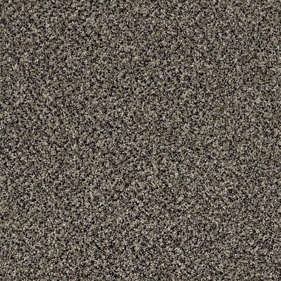 Shaw Wide Width Statuette I  Timber Wolf 15-ft W x Cut-to-Length Timber Wolf Textured Interior Carpet