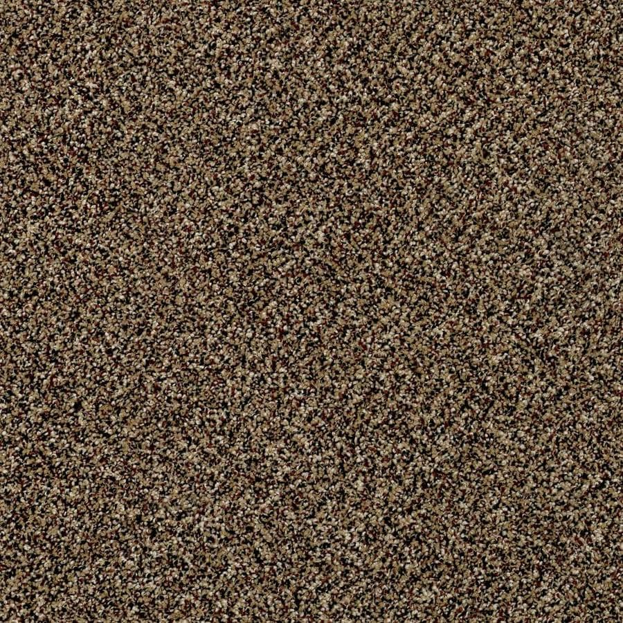 Shaw Wide Width Statuette II  Raw Sienna 12-ft W x Cut-to-Length Raw Sienna Textured Interior Carpet