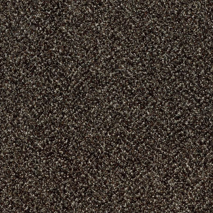Shaw Wide Width Statuette III  River Rock 15-ft W x Cut-to-Length River Rock Textured Interior Carpet