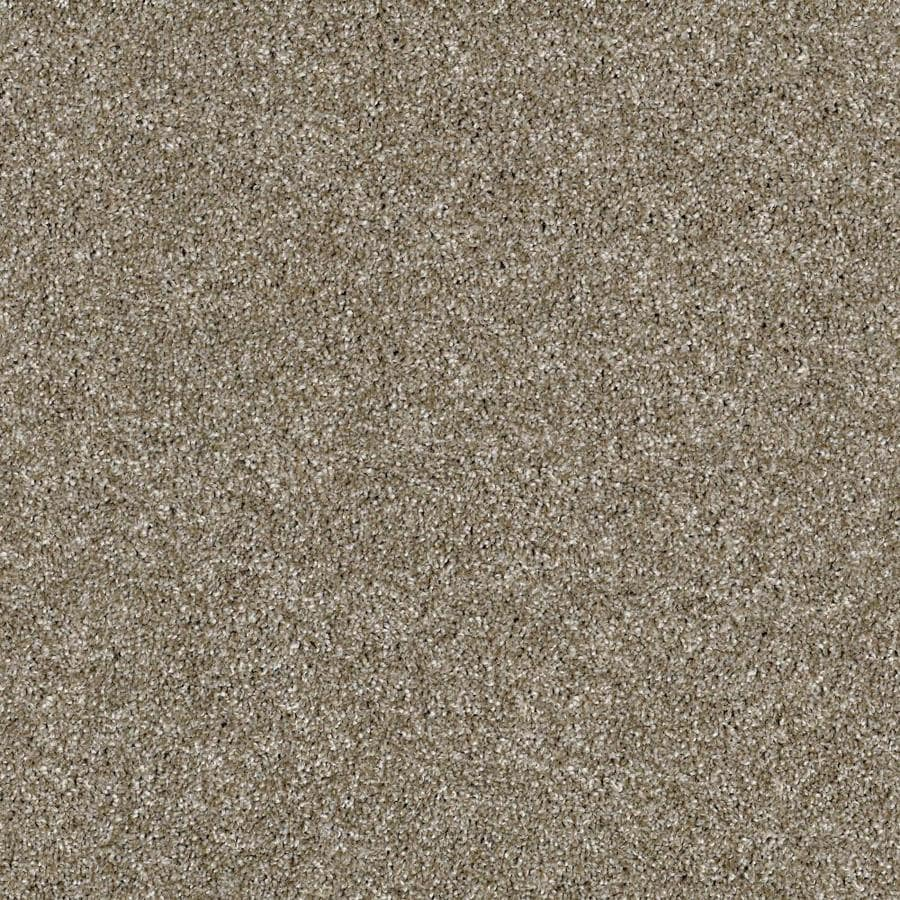 Shaw Wide Width Sculpture I  Cameo 15-ft W x Cut-to-Length Cameo Textured Interior Carpet