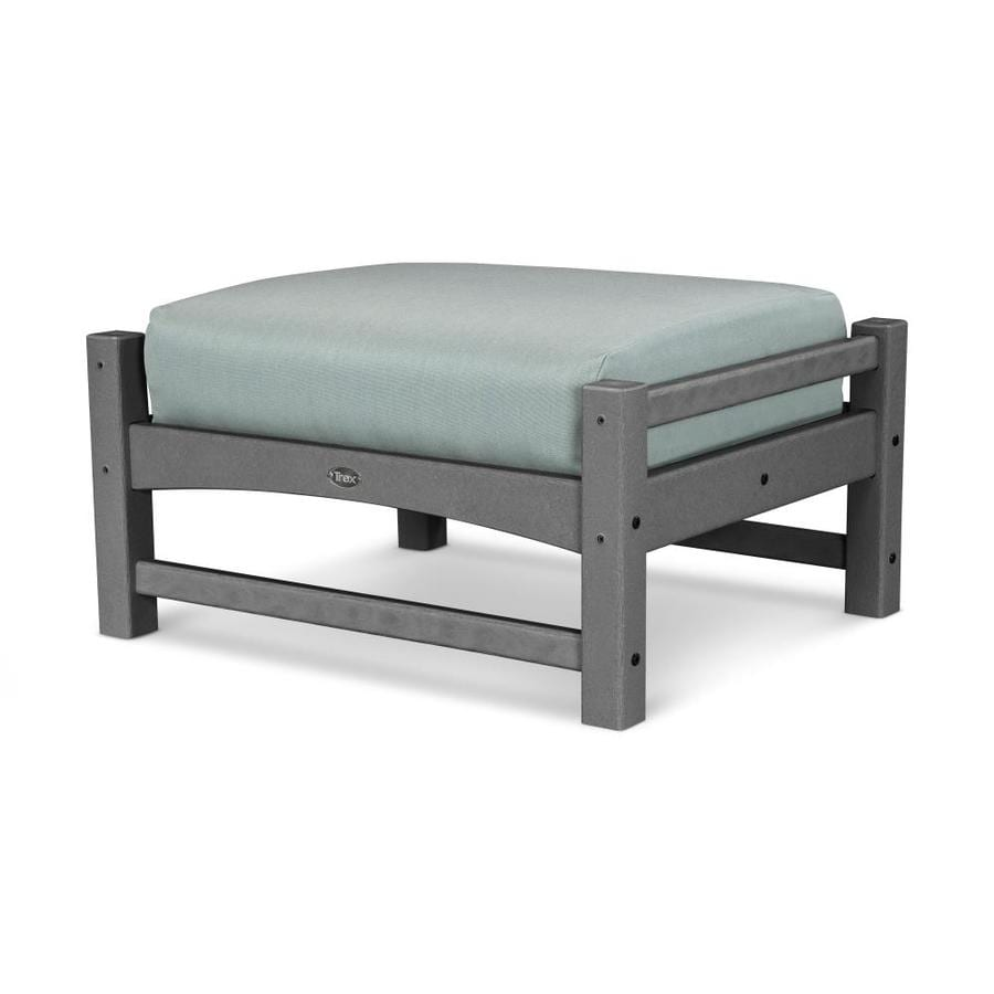 Trex Outdoor Furniture Rockport Stepping Stone/Spa Plastic Ottoman