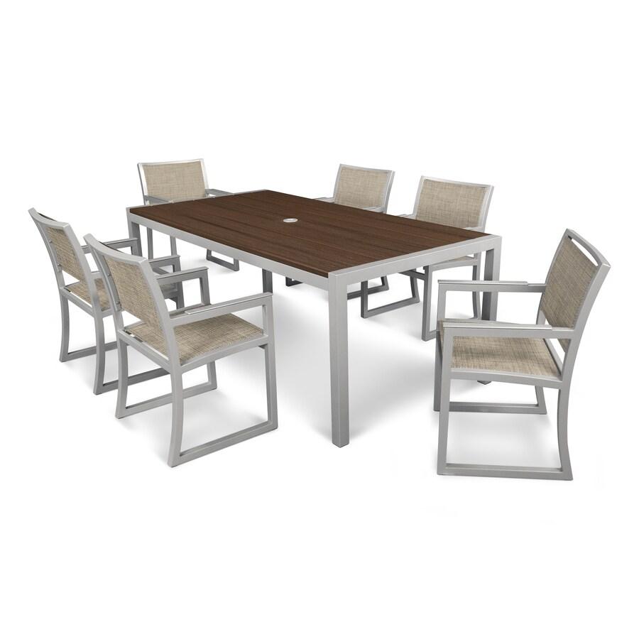 Shop Trex Outdoor Furniture Parsons 7 Piece Satin Silver