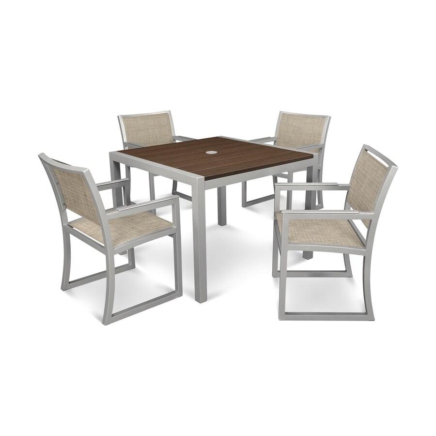 Shop Trex Outdoor Furniture Parsons 5 Piece Satin Silver
