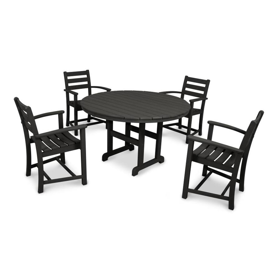 Trex Outdoor Furniture Monterey Bay 5 Piece Black Plastic Frame