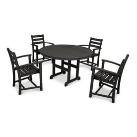 trex outdoor furniture monterey bay 5 piece plastic dining patio dining set - Garden Furniture East Bay