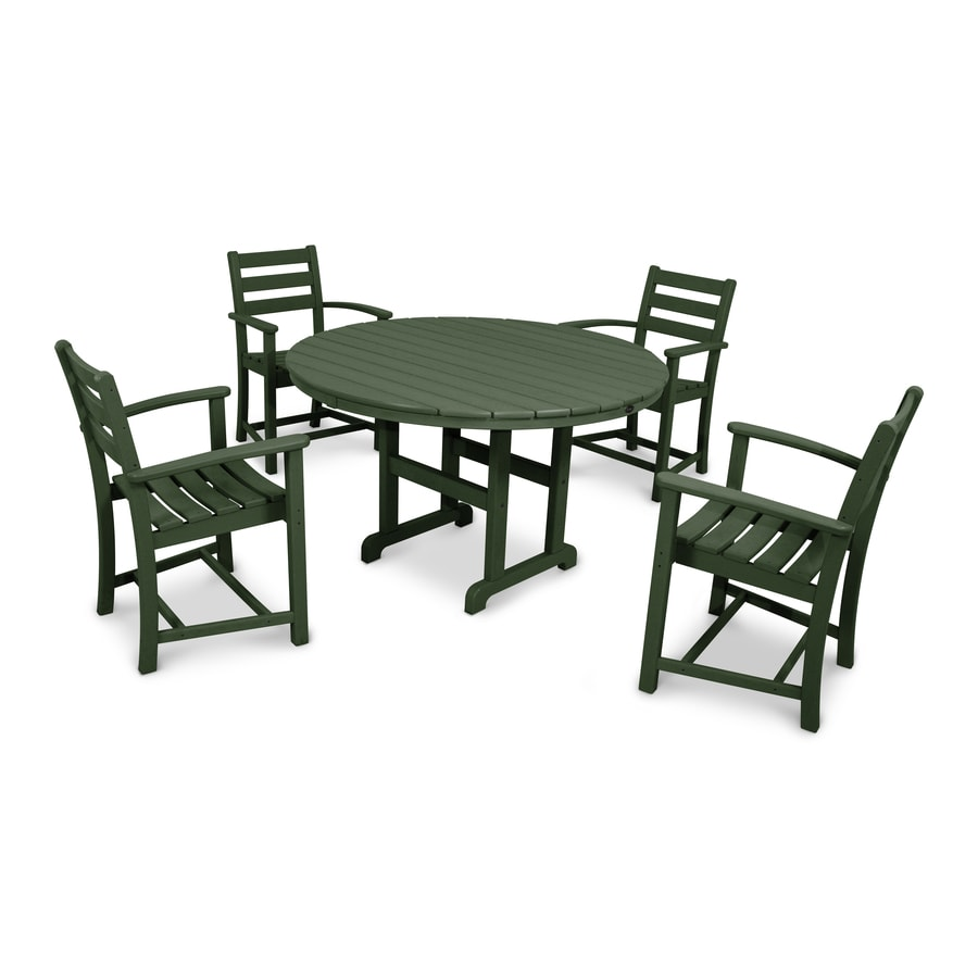 Shop Trex Outdoor Furniture Monterey Bay 5 Piece Rainforest Canopy Plastic Dining Patio Dining