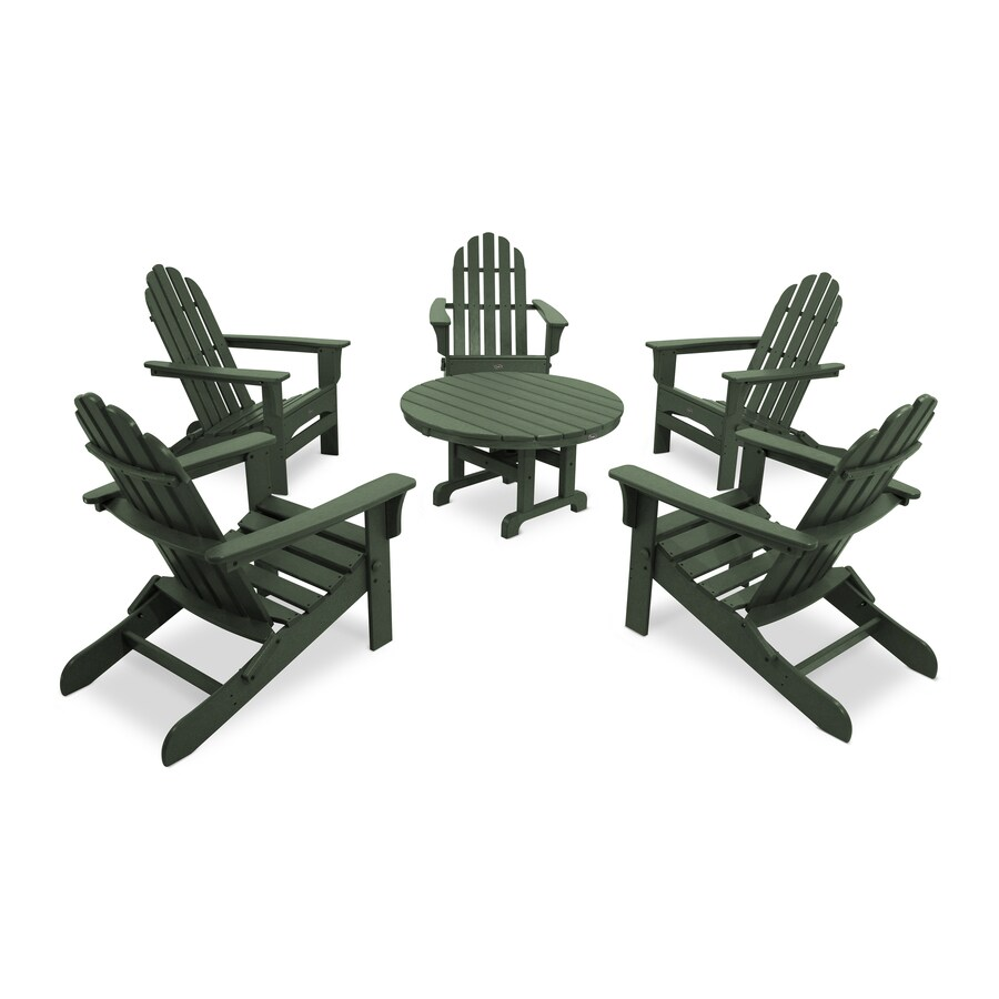 Trex Outdoor Furniture Cape Cod 6-Piece Plastic Patio Conversation Set