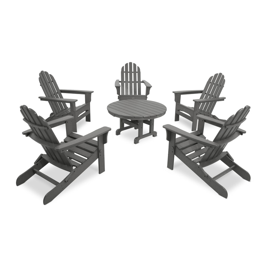 Trex Outdoor Furniture Cape Cod 6-Piece Plastic Patio Conversation Set