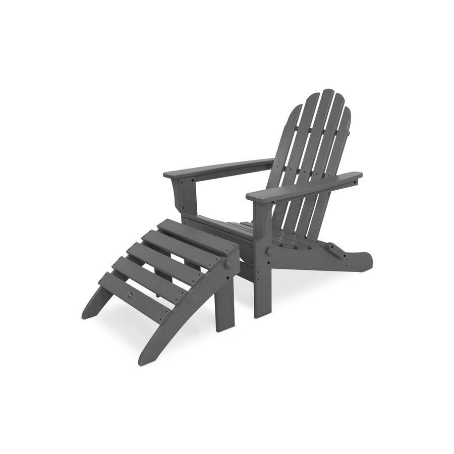 Trex Outdoor Furniture Cape Cod 2-Piece Plastic Patio Conversation Set