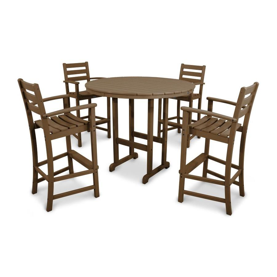 Shop trex outdoor furniture monterey bay 5 piece tree for Outdoor bar furniture