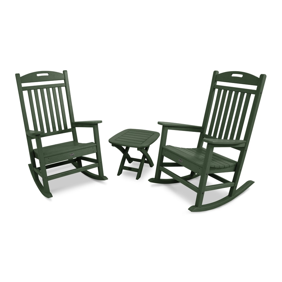 Trex Outdoor Furniture Yacht Club 2-Piece Rainforest Canopy Plastic Bistro Patio Dining Set