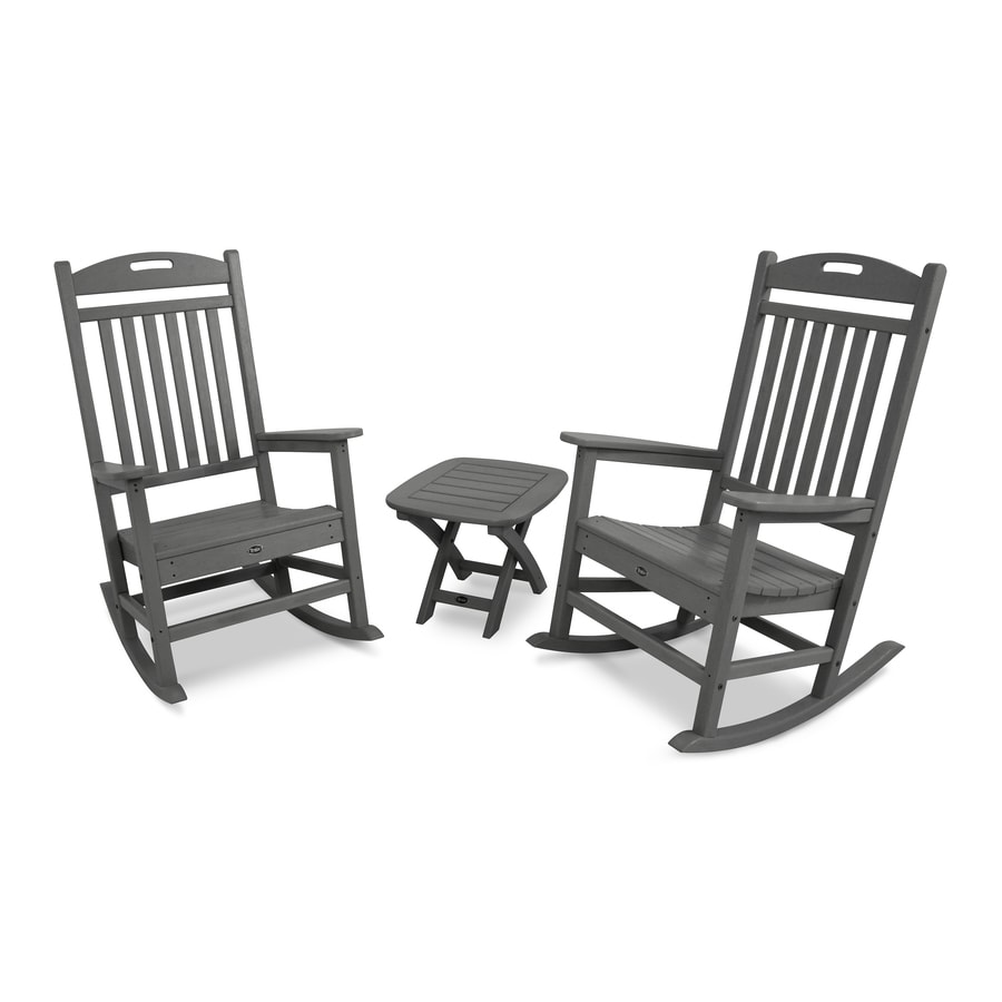 Trex Outdoor Furniture Yacht Club 2-Piece Stepping Stone Plastic Bistro Patio Dining Set