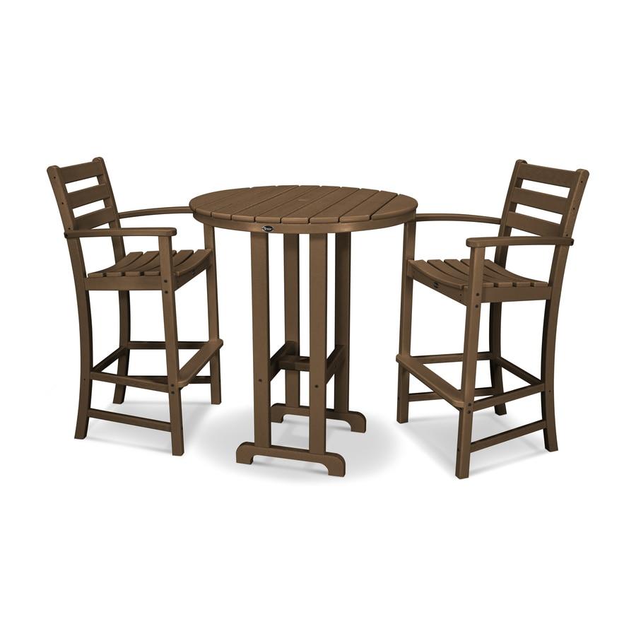 Shop trex outdoor furniture monterey bay 3 piece tree for Outdoor furniture 3 piece