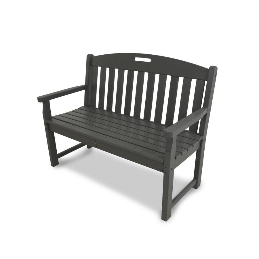 Trex Outdoor Furniture Yacht Club 47-in W x 24-in L Stepping Stone Plastic Patio Bench