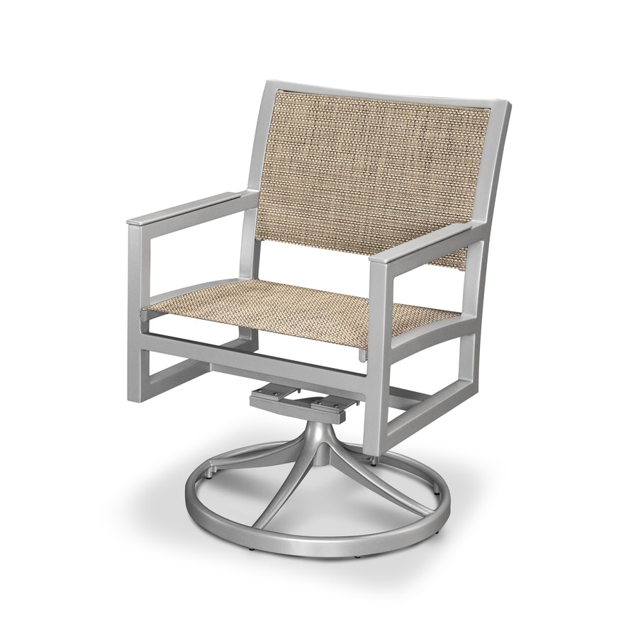 Trex Outdoor Furniture Parsons Satin Silver/Montego Plastic Patio Rocking Chair