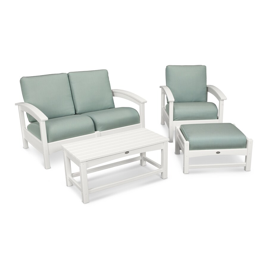 Trex Outdoor Furniture Rockport 3-Piece Plastic Patio Conversation Set