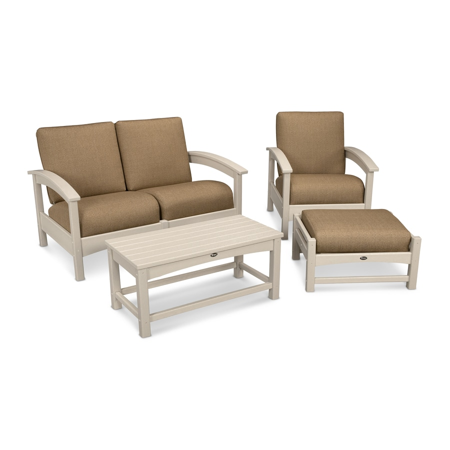 Trex Outdoor Furniture Rockport 3-Piece Plastic Patio Conversation Set