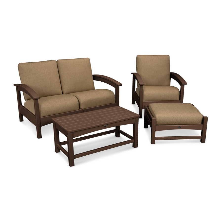 Shop trex outdoor furniture rockport 3 piece plastic patio conversation set at - Must have pieces for your patio furniture ...