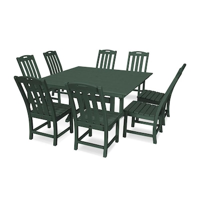 Remarkable Trex Outdoor Furniture Yacht Club 9 Piece Green Frame Dining Cjindustries Chair Design For Home Cjindustriesco