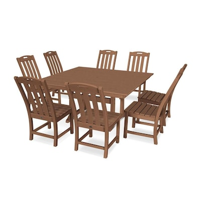 Amazing Trex Outdoor Furniture Yacht Club 9 Piece Brown Frame Dining Pabps2019 Chair Design Images Pabps2019Com