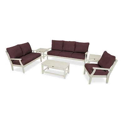 Awesome Trex Outdoor Furniture Yacht Club 5 Piece Plastic Frame Dailytribune Chair Design For Home Dailytribuneorg