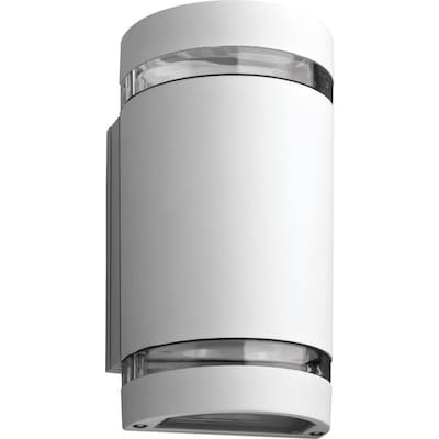 Ollwu 9 75 In H White Led Outdoor Wall Light