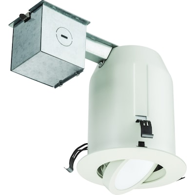 new concept fc5b0 b735a White LED Remodel And New Construction Recessed Light Kit (Fits Opening:  4-in)