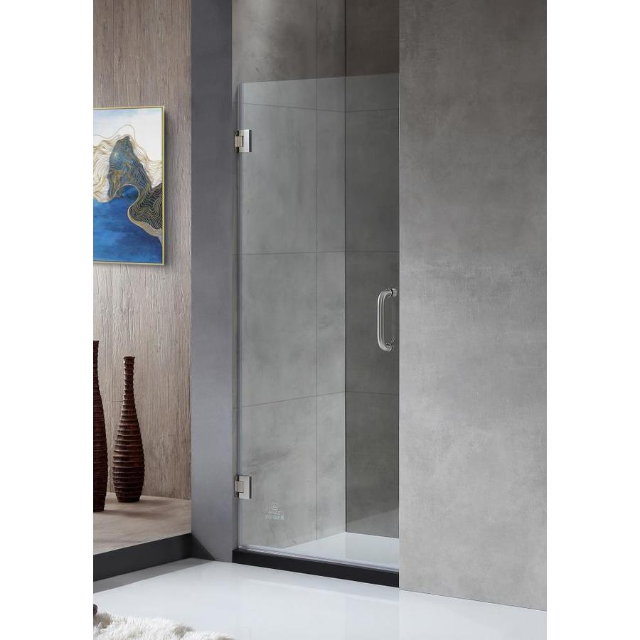 Shop anzzi fellow series 24 in to 24 in frameless brushed nickel anzzi fellow series 24 in to 24 in frameless brushed nickel hinged shower door planetlyrics Image collections
