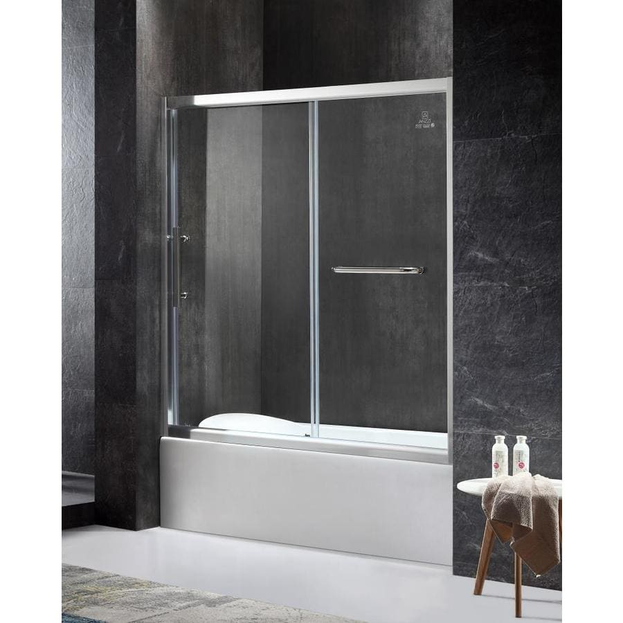 Shop ANZZI Keep Series 60.43-in W x 59.06-in H Polished Chrome ...