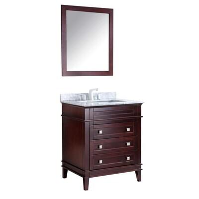 Chocolate Single Sink Bathroom Vanity