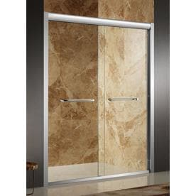 ANZZI Pharaoh 56-in to 60-in W Framed Brushed Finish Sliding Shower Door