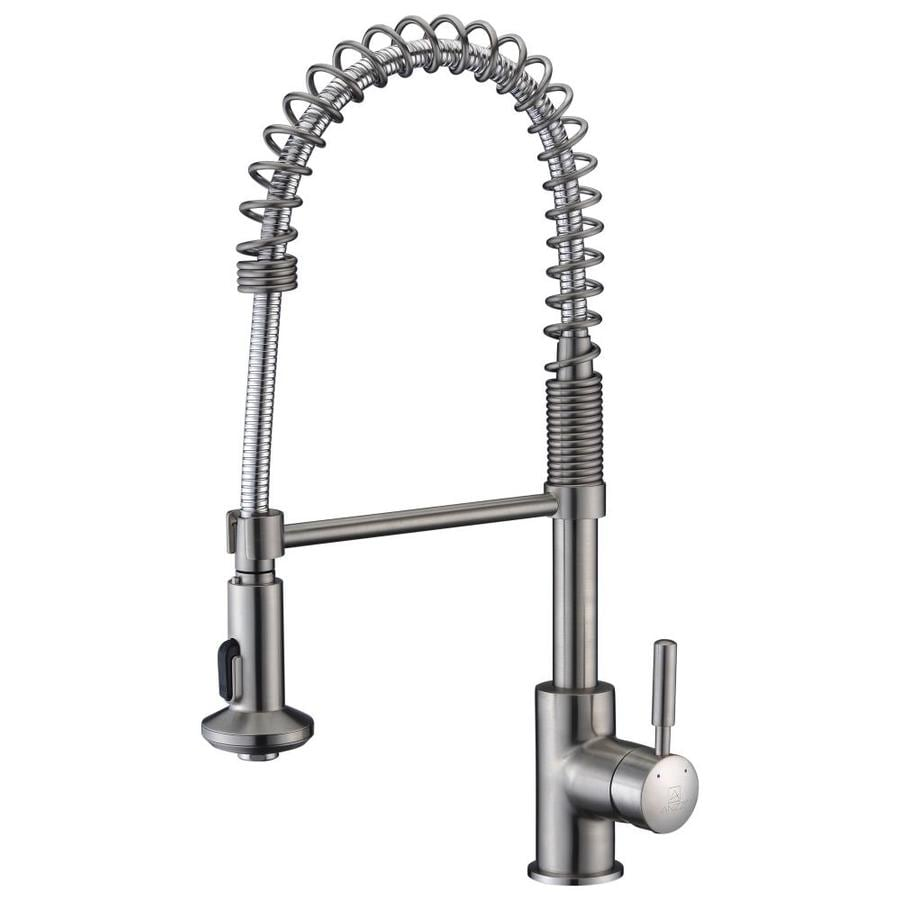 Anzzi Eclipse Brushed Nickel 1 Handle Pull Down Kitchen