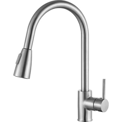 ANZZI Sire Brushed Nickel 1-handle Deck Mount Pull-down ...