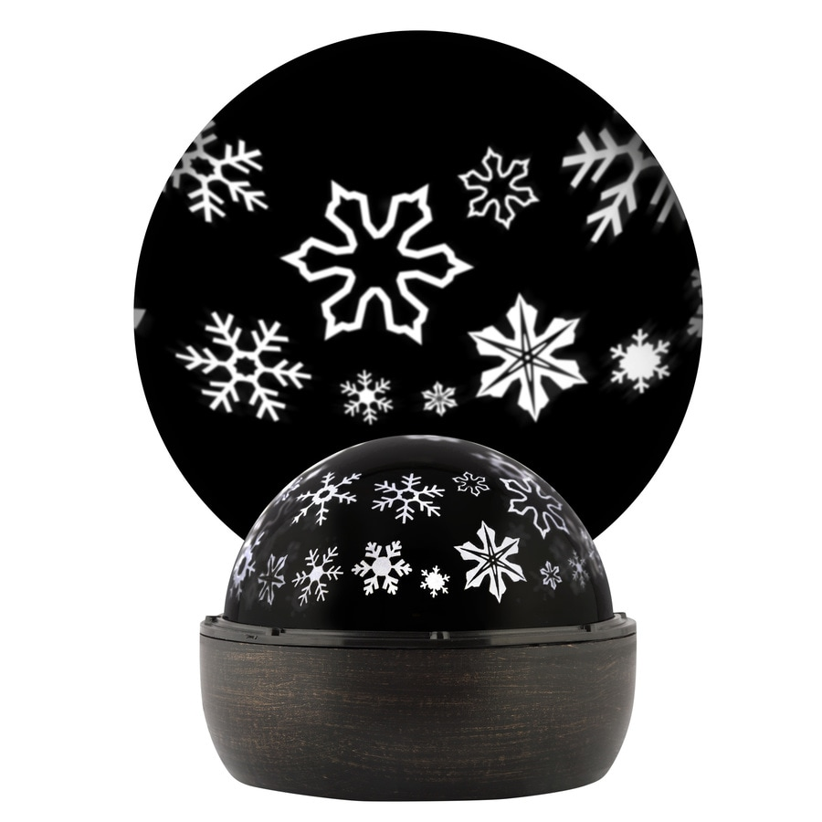 LightShow Projection Multi-function White LED Snowflakes Christmas Indoor Tabletop Projector