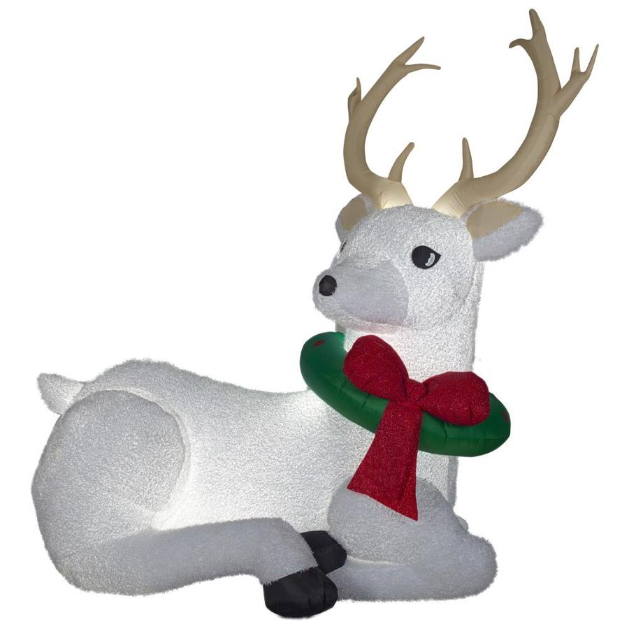 Holiday Living 8.37-ft x 8.86-ft Lighted Deer Christmas Inflatable