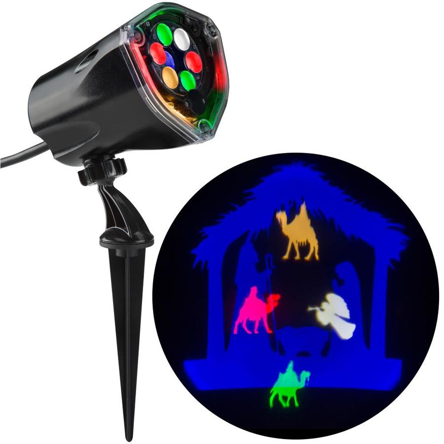 Gemmy Lightshow Projection Multi Function Led Design Christmas Indoor Outdoor Stake Light