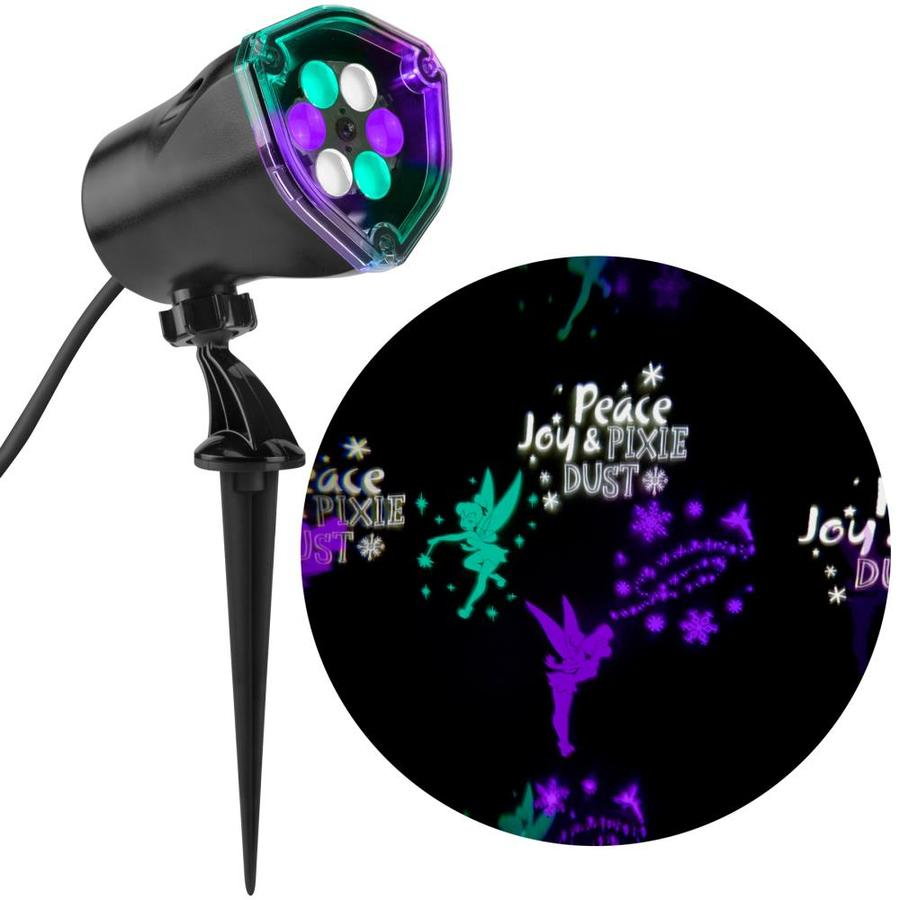 Disney Whirl-A-Motion Constant Purple, White, Turquoise LED Multi-Design Christmas Outdoor Stake Light Projector