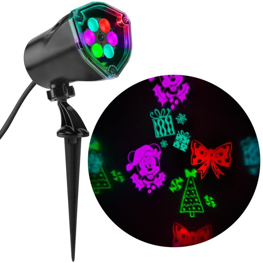 Disney Lightshow Projection Multi-function Blue ,Purple,red,green Led Multi-design Christmas Outdoor Stake Light Projector