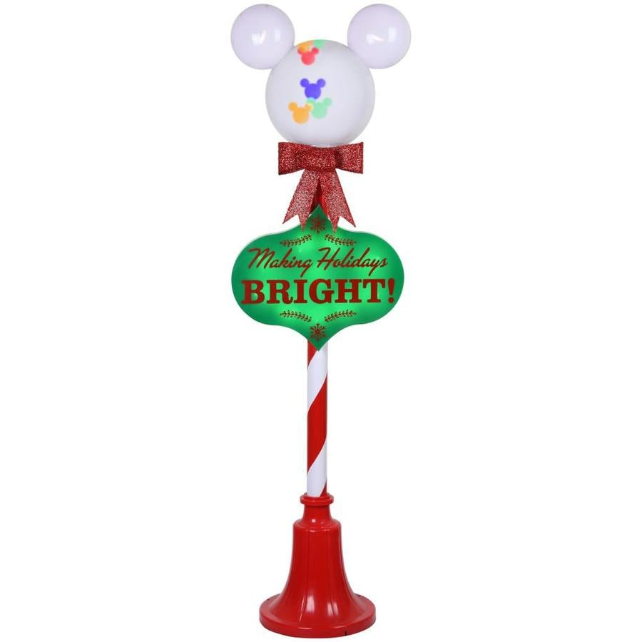 Disney 4 99 Ft Freestanding Licensed Lamp Post With Constant Multicolor Led Lights