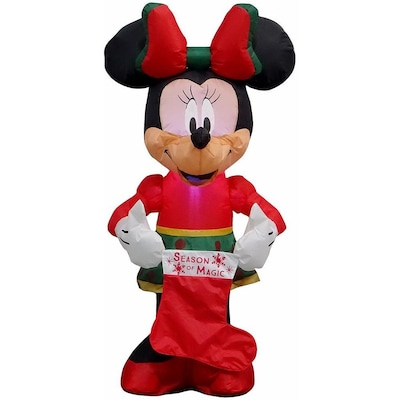 Disney 3.5105-ft Lighted Minnie Mouse Christmas Inflatable