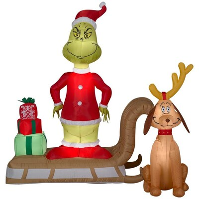 Christmas Inflatables.6 Ft Lighted Grinch Christmas Inflatable